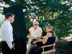 Martin Scorsese with Matt Damon and Vera Farmiga - The Departed