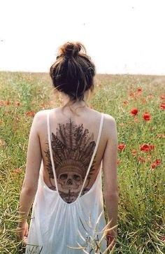 Awesome back tattoo. I would love to get a back tattoo but afraid to because I might wanna get small ones then add on rather than something that big! still awesome tho!
