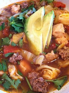 Paleo Fresh: Fresh Taco Soup (with ground turkey, cabbage, and chicken)