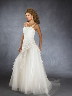 Classic A-line Gown Wedding Dress Satin Bride39 | Classic UK | Fully Customize Tailor Your Dress for Free | IndesignGown