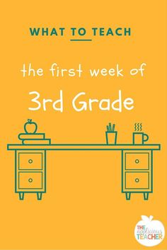 What to teach the first week of 3rd grade. Perfect post if you're brand new to the grade level, or you just need some great ideas!