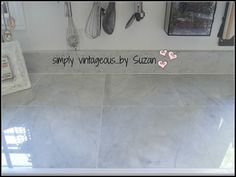 12x12 Marble Tiles For Counter And Marble Thresholds Used As Backsplash! :  Simply Vintageous...by Suzan: Hellu0027s Kitchen ( Transformed )