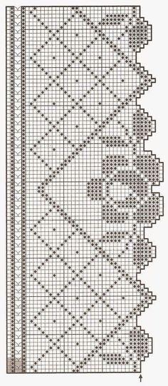 hkl crochet rose border vertical Patterns and motifs: Crocheted motif no. Crochet Lace Edging, Crochet Motifs, Crochet Borders, Crochet Flower Patterns, Love Crochet, Irish Crochet, Crochet Doilies, Easy Crochet, Crochet Flowers