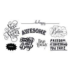 Inspirational set of temp tattoos.