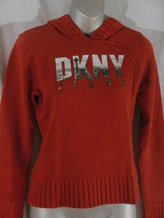 DKNY Jeans womens hoodie shirt Opening Ceremony New York Skyline size M