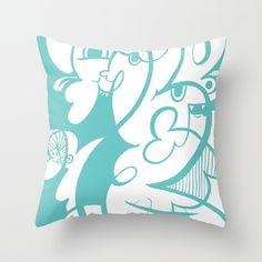 Doodle of the day V Throw Pillow