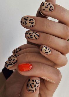Fancy Nails, Love Nails, Pretty Nails, Nail Art Designs, Leopard Print Nails, Leopard Nail Art, Nail Candy, Minimalist Nails, Creative Nails