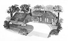 Tudor House Plan with 1646 Square Feet and 3 Bedrooms from Dream Home Source | House Plan Code DHSW37577