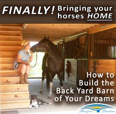 After a lifetime of dreaming, you're ready to bring your horses home! Here's what you NEED TO KNOW when building their barn! Horse Stables, Horse Farms, Horse Shed, Horse Tack Rooms, Equestrian Stables, Dressage, Horse Barn Designs, Backyard Barn, Horse Barn Plans