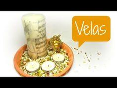 Decoración con velas. Pillar Candles, Decorated Candles, Fiestas, Candles
