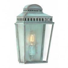 MANSION HOUSE traditional verdigris garden wall lantern