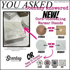 #Scentsy Fall/winter 2016 cord-concealer warmer stands. https://yvonnesanya.scentsy.us