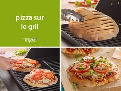 Pizza with a summer twist! Our grilled pizza is cooked on the barbecue using on-hand ingredients. Pizza Recipes, Meat Recipes, Cooking Recipes, What's Cooking, Good Food, Yummy Food, Fun Food, Pita Pizzas, Grilled Tomatoes