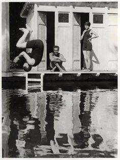 Photo by Jacques-Henri Lartigue, Charly, Rico et Sim, Rouzat, septembre 1913
