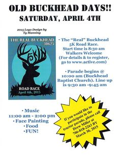 Old Buckhead Days and 5K Road Race | Saturday, April 4
