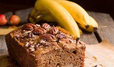 Κέικ με μέλι, μπανάνα και καρύδια