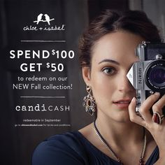 Exclusive sneak peek of our upcoming Fall collection, arriving next month! Stock up on Free Jewelry Credit NOW with August's candi cash promo