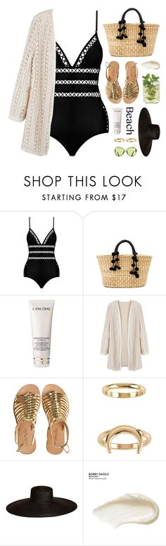 """sun's out: beach day"" by jesuisunlapin ❤ liked on Polyvore featuring Zimmermann, Nannacay, Lancôme, Cocobelle, Billabong, Samuji, Urban Decay, beachday, swimwear and metallic"