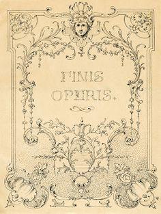 Vintage Illustrations – Gorgeous Ornate Label – Frame