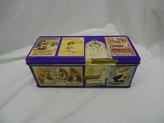 CADBURY'S BISCUITS TIN!    RECENT VINTAGE: 1995 (APPROXIMATELY)!  A NICE ADVERTISING TIN THAT CAN BE REPURPOSED, OR USED AS A GIFT!