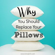We never seem to notice when the pillow case is on, but old pillows can produce bacteria overtime. Read more on why you should replace your pillows.