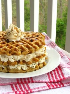 Ingredients: Yields: about 7 waffles (using 1/2 cup batter for each)  Waffle: 2 cups all-purpose flour 1/2 teaspoon salt 2 tablespoons sugar 1 1/2 teaspoons baking