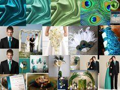 peacock wedding 2 : PANTONE WEDDING Styleboard : The Dessy Group