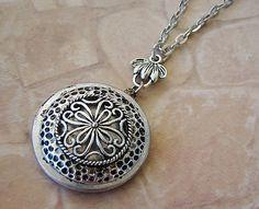 Silver Necklace Locket Wedding Jewelry by BackstreetCreations