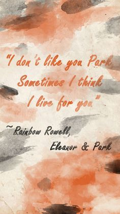 My Eleanor and Park fanart! Eleanor And Park Quotes, Eleanor Y Park, Competition Book, Good Books, My Books, Book Quotes, World Quotes, Looking For Alaska, Rainbow Rowell