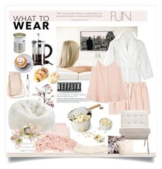 """""""What To Wear: Netflix"""" by rever-de-paris ❤ liked on Polyvore featuring James Bond 007, Abyss & Habidecor, Maxwell & Williams, Aroma, Canopy Designs, Dot & Bo, philosophy, Bloomingville and Pure Lana"""