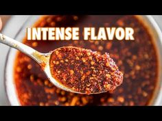 Chili Oil is great on dumplings and all. But there is a massive difference between from scratch homemade chili oil, and store bought. When I say massive, I m. Garlic Oil Recipe, Asian Recipes, Chinese Recipes, Asian Foods, Chinese Food, How To Make Red, Chili Oil, Homemade Chili, Infused Oils