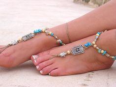 Barefoot sandals. wedding sandals. boho barefoot sandals, barefoot sandles, crochet barefoot sandals, , yoga, anklet hippie shoes $20.00