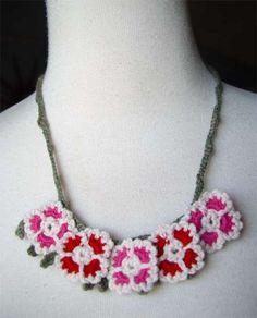 crochet dianthus necklace | My Grandma had 10 green thumbs. … | Flickr