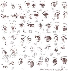 How to draw anime - eyes - ad., to draw anime - eyes - ad.hd - # animé - How to draw anime - Eyes - ad.hd Anime is hand-drawn and compu. Anime Drawings Sketches, Anime Sketch, Love Drawings, Manga Drawing, Animal Drawings, Manga Art, Art Drawings, Anime Art, Drawing Tips