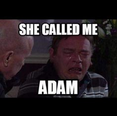 """The Internet Has Reacted Brilliantly To The """"How's Adam"""" Eastenders Live Fail Stupid Funny Memes, Funny Stuff, Funny Things, Tv Quotes, Awkward Moments, Live Tv, Call Me, Fails, Haha"""