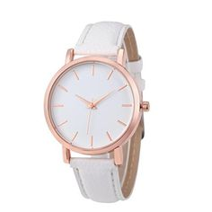 Unisex Montre Femme Reloj Mujer Leather Stainless Quartz Wrist Watches Mens  Watches Leather, Ladies Watches 90ebafeaf0b4