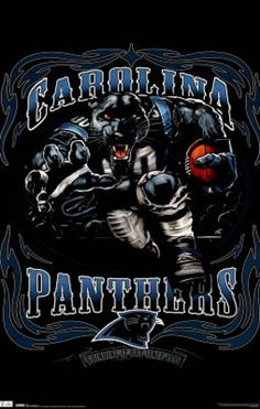 Carolina Panthers (Mascot, Grinding It Out Since 1995) Sports Poster Print I have