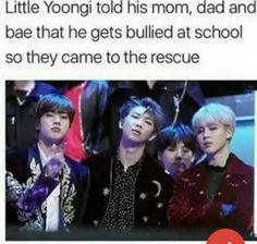 """Minnie looks all smug like """" Yeahh ;)"""" Meanwhile Rapmon being responsible parent shocked like and Jinnie just """"what's wrong with that. You asked for a presentation."""""""