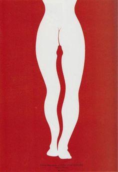"""Лех Древински.  Театральный плакат: В.Шекспир """"Антоний и Клеопатра"""" 1996"""