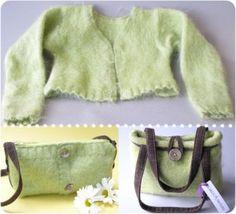 Bolsas hechas de suéteres :-)