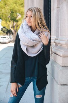 Chunky Knit Infinity Scarf #JessLeaBoutique