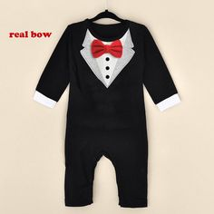 Hot New Newborn Baby Rompers Clothing Baby Boys Clothes Tie Gentleman Bow Leisure Infant Toddler One-pieces Jumpsuit