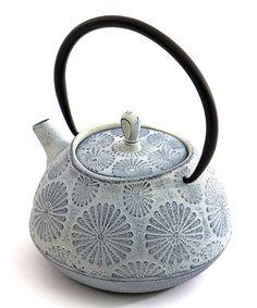 Look at this #zulilyfind! White Flower Cast Iron Teapot #zulilyfinds