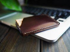 Minimalist Mens Leather Wallet  Leather Change Purse  by CityOfGod