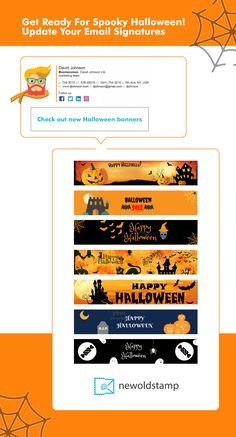 email signatures, banners for Halloween