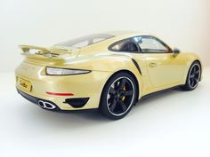 Porsche 911 (991) Turbo Gold Lime Exclusive 1:18 scale by GT Spirit