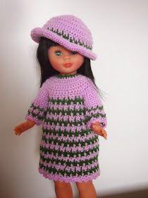 Nancy muñeca de colección y vestidos para Nancy Crochet Hats, Ideas, Fashion, Vestidos, Tela, Doll Clothes, Nancy Doll, Houndstooth, Celebs