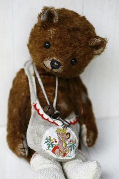 Mini Teddy Bears, Vintage Teddy Bears, Tedy Bear, Christmas Teddy Bear, Honey Bear, Fabric Animals, Cute Plush, Bear Toy, Old Toys