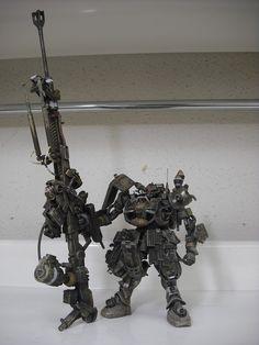 lj7stkok: gunjap - 1/144 Original Zaku [Big Rifle]: Custom/Scratch Work. Photoreview No.10 Wallpaper Size Images. Modeled by タクタク