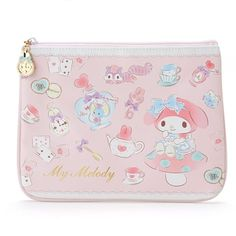 Sanrio Original My Melody Leather Flat Multi Pouch Bag Wallet Makup Pouch #SanrioJapan